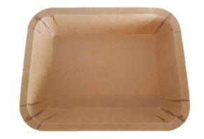 Kraft/PET paper tray 227x178x40