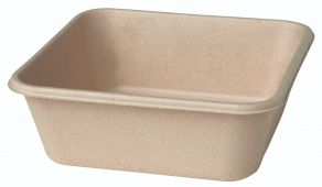 Bagasse Box 155x155x53 900cc Brown