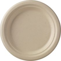 Dinner plate Bagasse 18cm unbleached