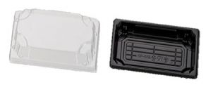 PS Sushi tray ZW 140x80x21,5 + OPS DE TRP combi